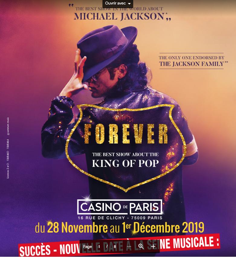 Forever au casino de Paris et à la Seine musicale