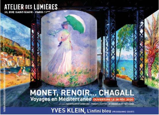 MONET, RENOIR… CHAGALL VOYAGES EN MÉDITERRANÉE                 YVES KLEIN, L'INFINI BLEU