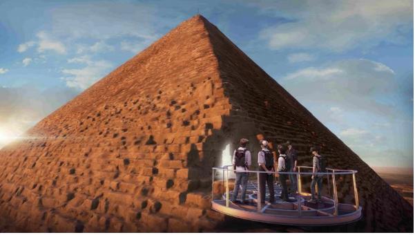 Visite en réalité virtuelle de la pyramide de Khéops