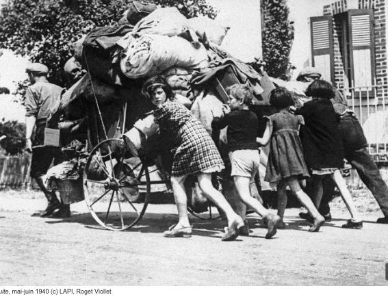 1940 : LES PARISIENS DANS L'EXODE au musée de la libération