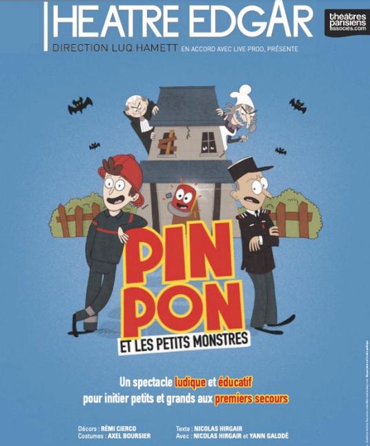 Pin Pon et les petits monstres : un bon spectacle pour enfants au Théatre Edgar